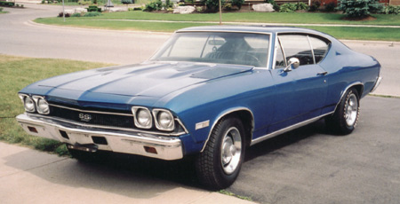 The 69 Chevelle is similar but has no vent windows and different tail lamps.