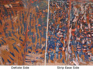 Comparison of DeKote and Klean Strip