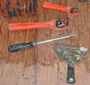 The tools needed for your paint stripping job.