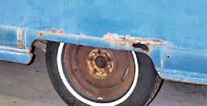 Left Side Rear Fender of 1951-55 Kaiser