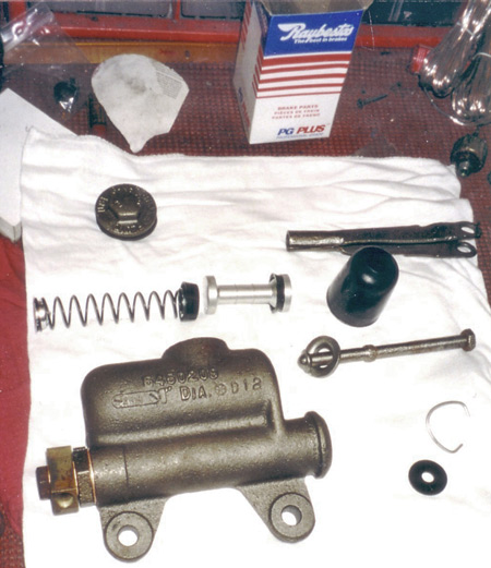 New Reybestos kit from Brake & Equipment Warehouse in Minneapolis (www.brakeplace.com) contained all parts for '53 Pontiac master cylinder rebuild. Always work clean and layout parts according to shop manual illustrations.