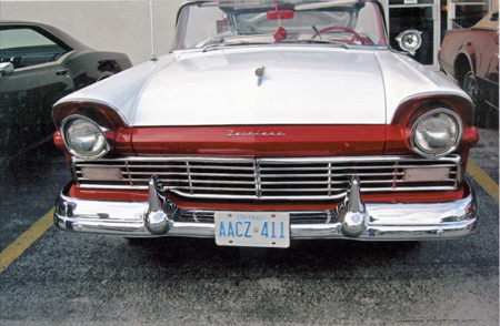 Every year sported a different grille, this is a 1957 model.
