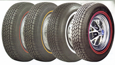 coker tire co has a big line of nostalgic white line and red line tires